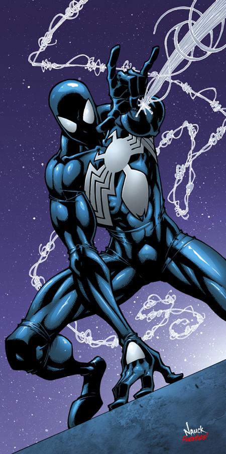 Spiderman black suit comic