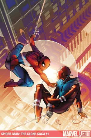 SPIDER-MAN CLONE SAGA #1 cover by Pasqual Ferry