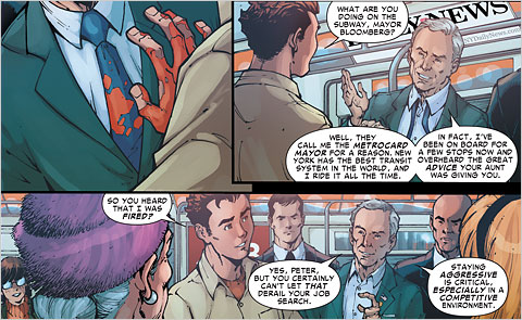 Peter Parker meets Mayor Bloomberg